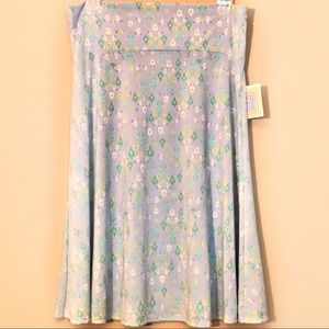 LuLaRoe NEW Blue Stretch Azure Skirt 2XL
